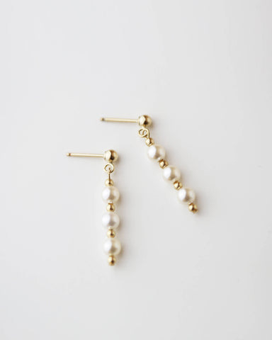 CZ Drop Threader Earrings