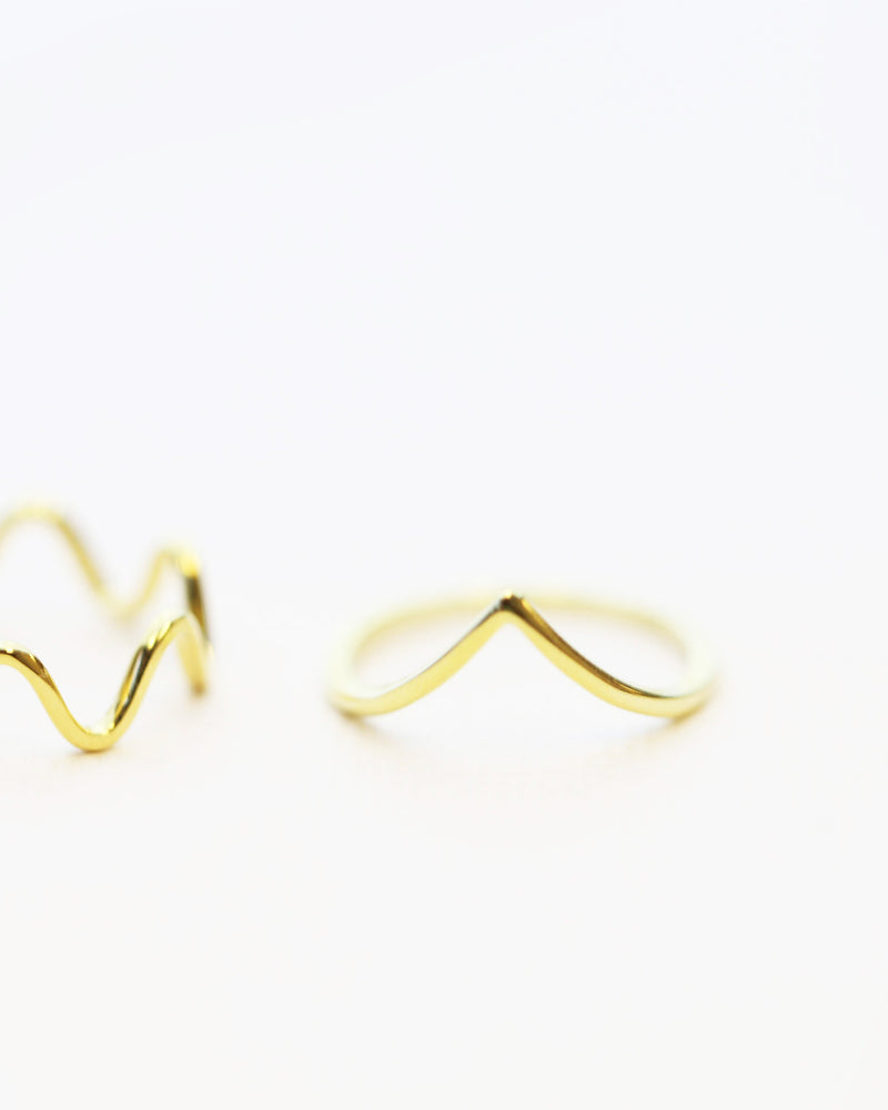Chevron V Ring