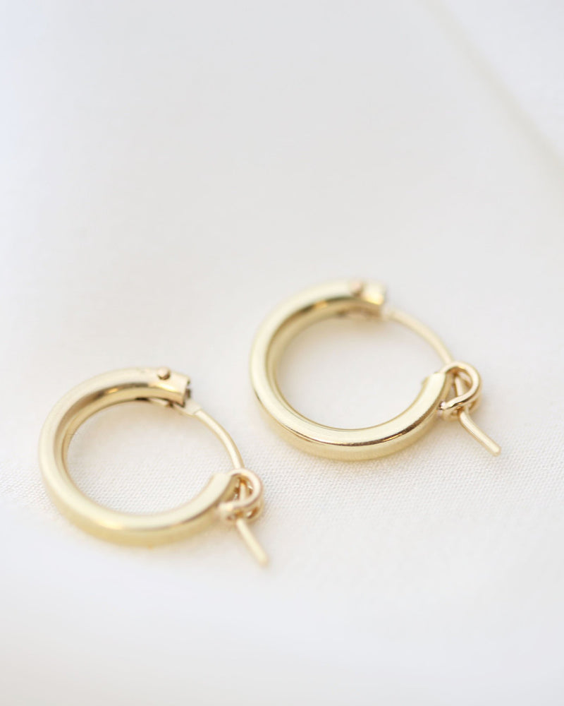 14K Mini Hoop Earrings