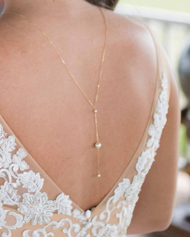 Pearl III Back Necklace