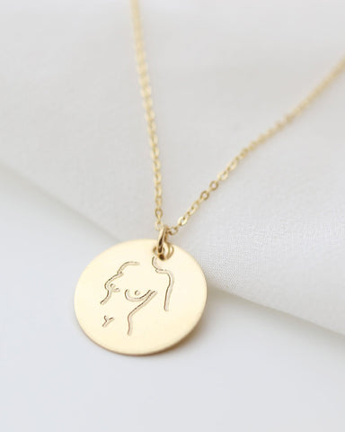 Disc Dangle Necklace