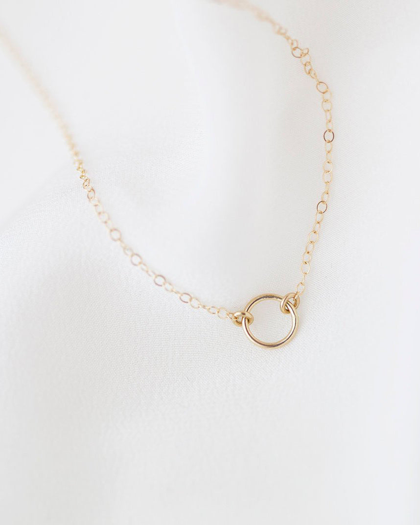 14K Halo Necklace