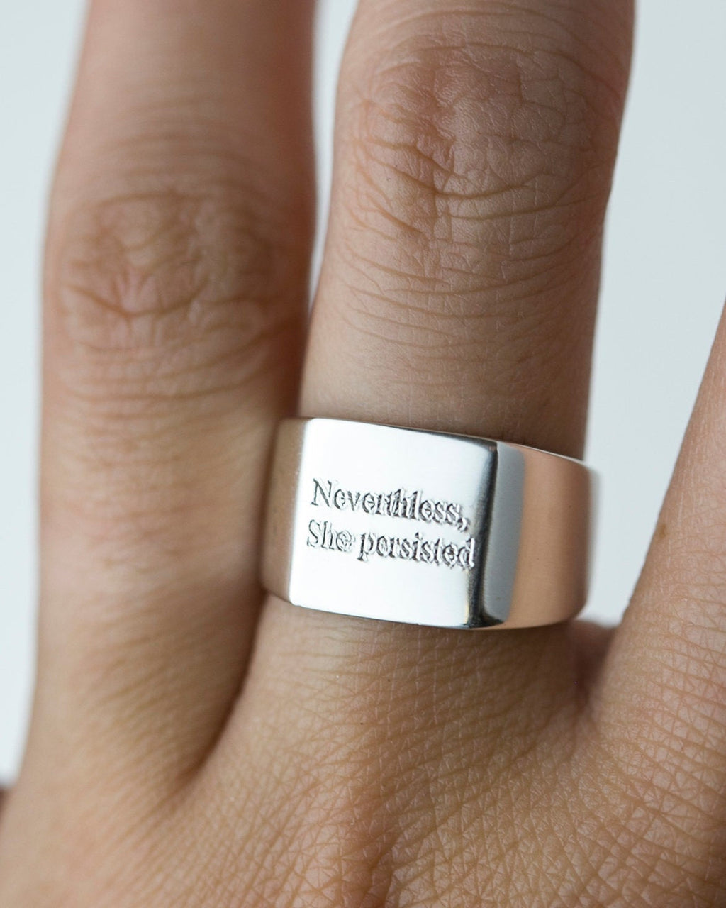 Inspirational quote Ring