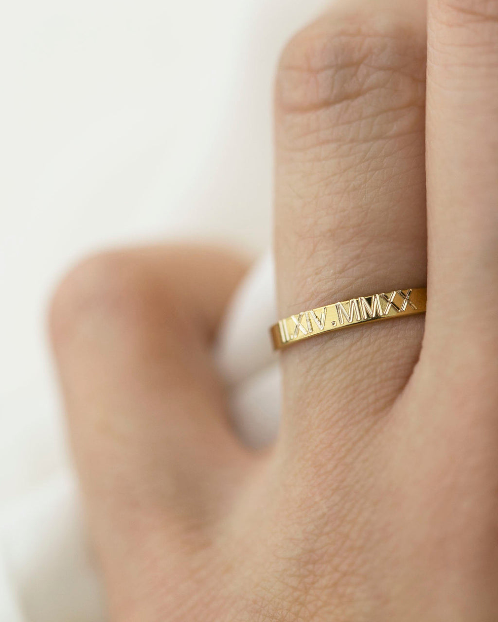Roman Numeral Date Ring