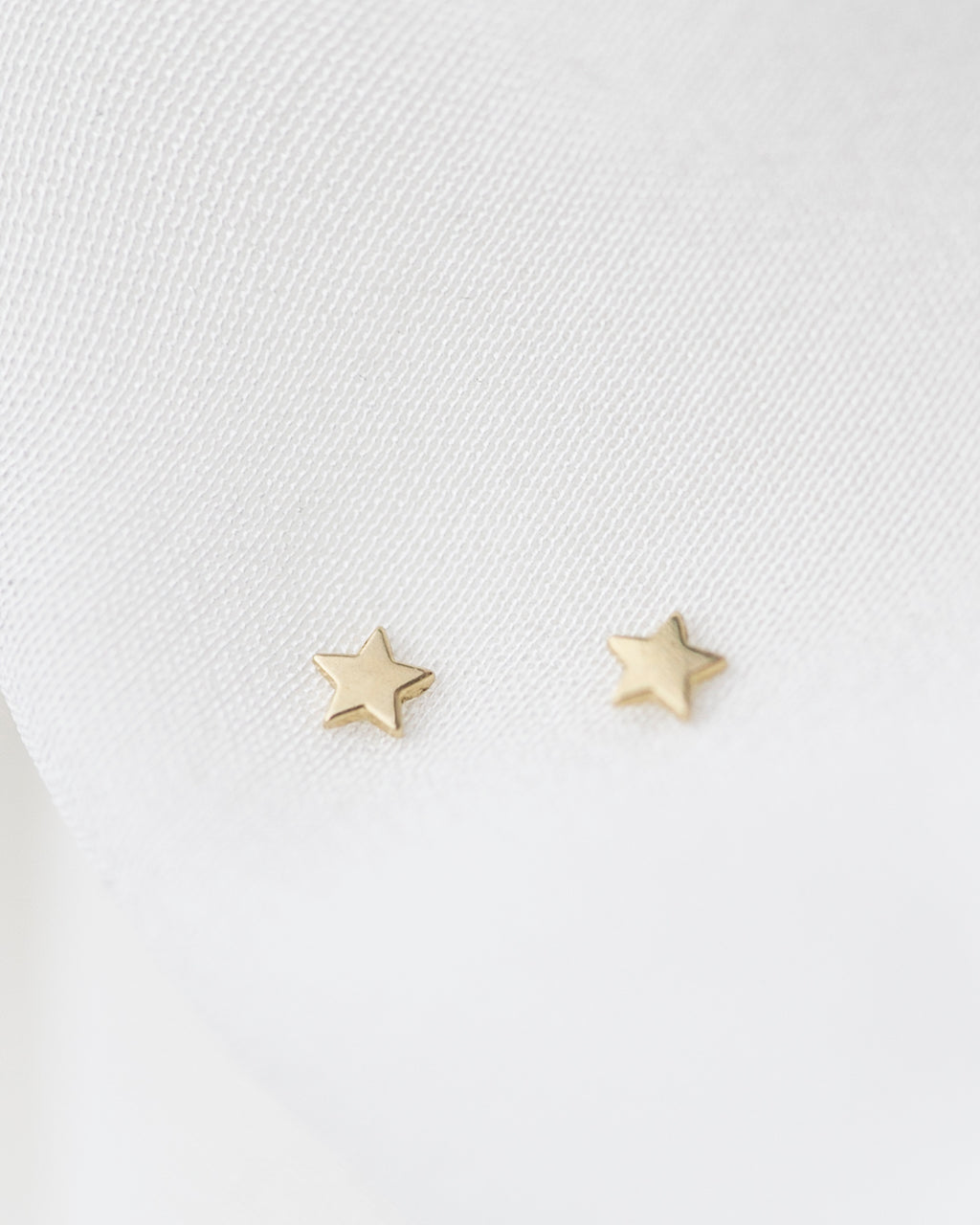 14K Mini Star Stud Earrings
