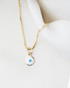 14K Evil Eye Necklace