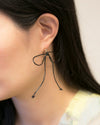 Leather Ribbon Earrings