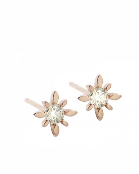 Diamond Polaris Starburst Earrings