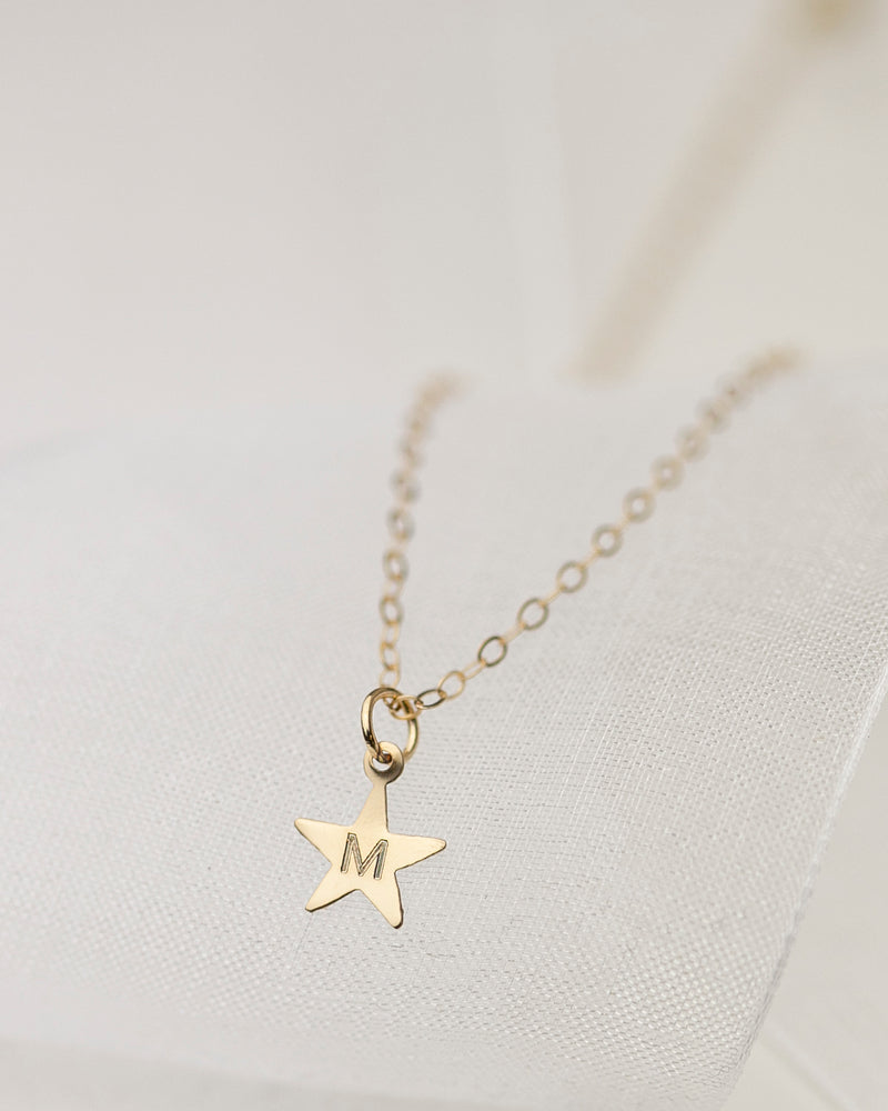 14K Gold Star Necklace