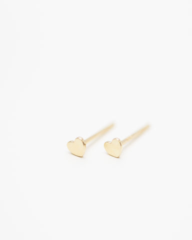 14K Mini Button Stud Earrings