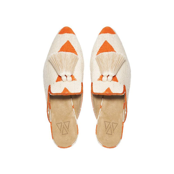 Shoes - Slippers - Orange Triangle