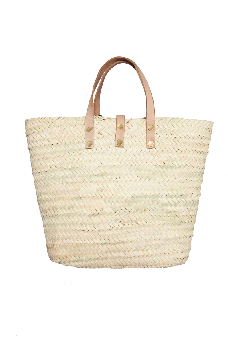 Bag - Basket With White Wool Tassel