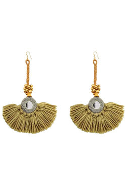 Bag - Diya Earrings - Pistachio/Grey
