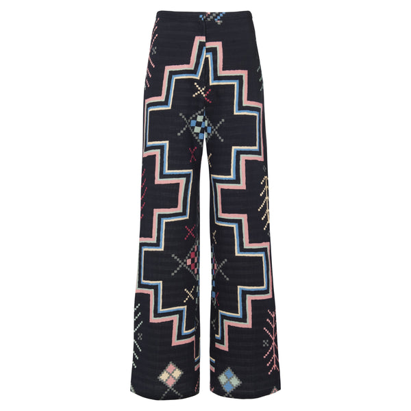 Blazer - Trousers Organic Cotton - Black Rug Print