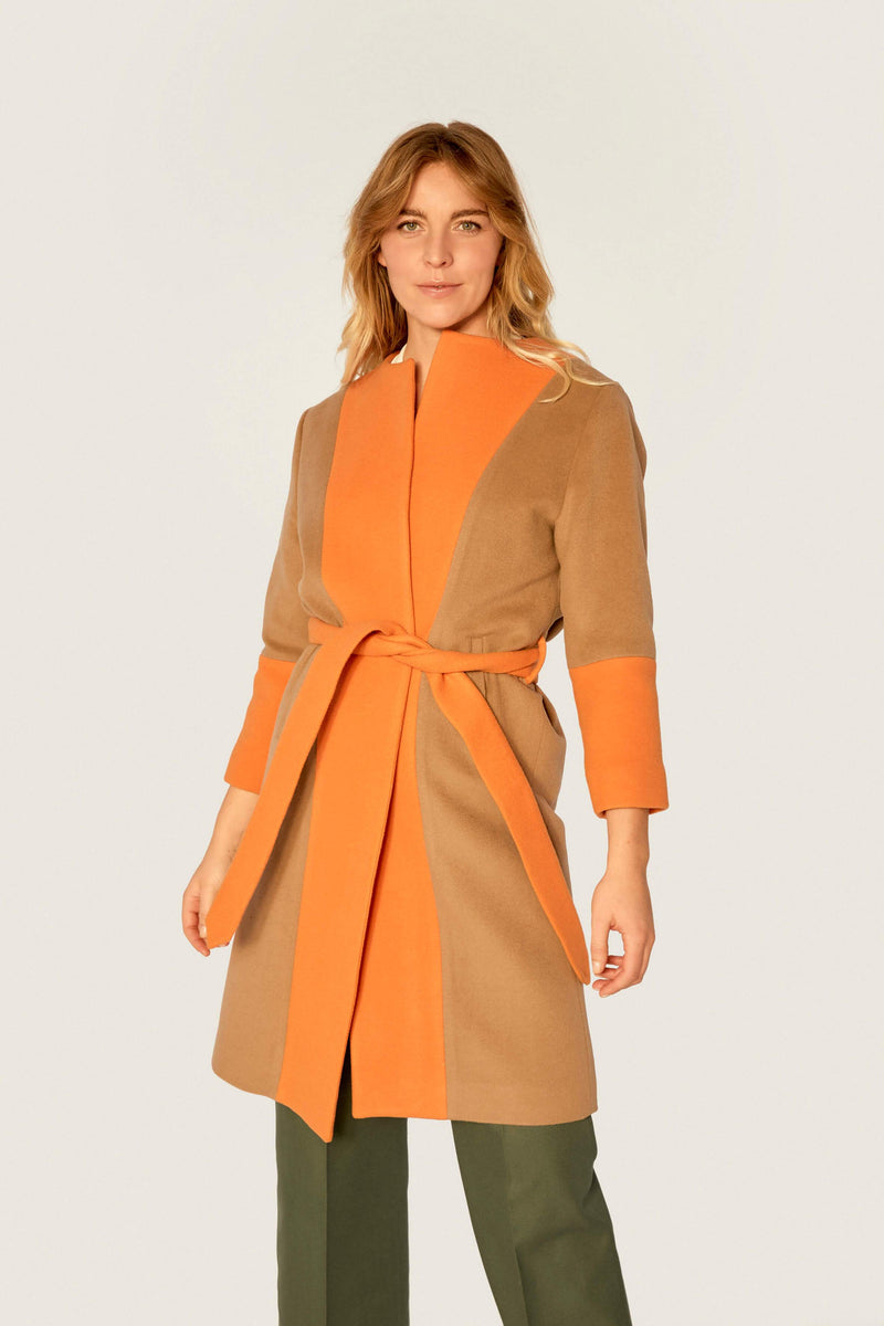 Coat - Wool Coat - Sandy Bergamot