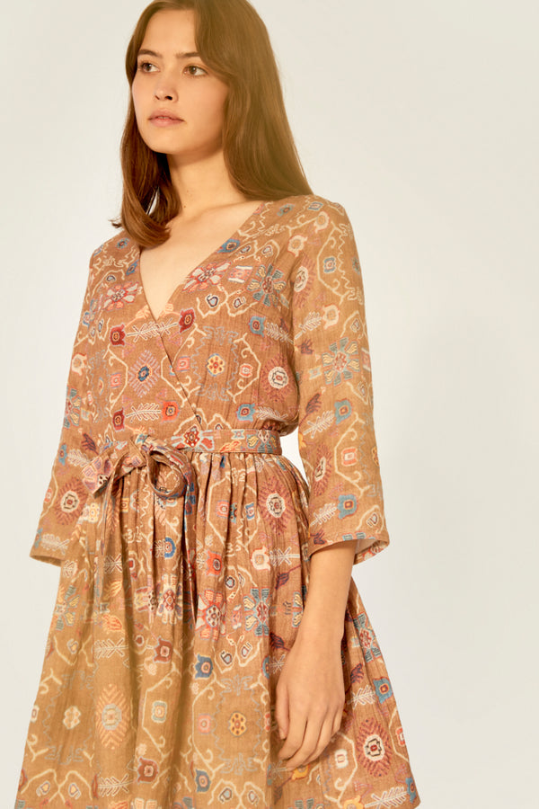 Dress - Wrap Dress Organic Cotton - Rug Real