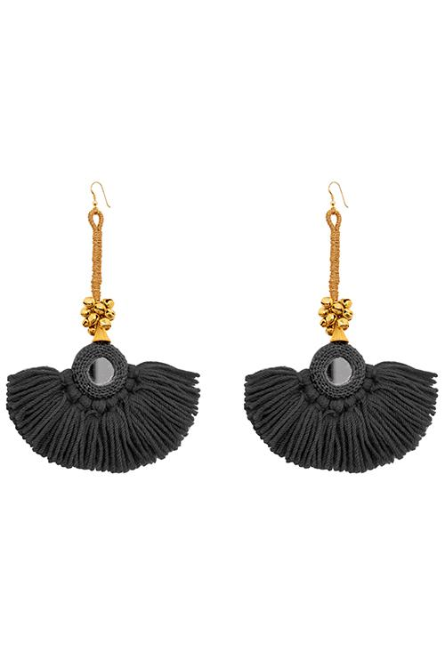 Earrings - Diya Earrings - Black