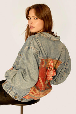 Jeans Jackets - 1.10. Vintage Upcycled Jeans Jacket - One Of A Kind