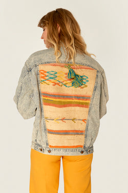 Jeans Jackets - 1.8. Vintage Upcycled Jeans Jacket - One Of A Kind
