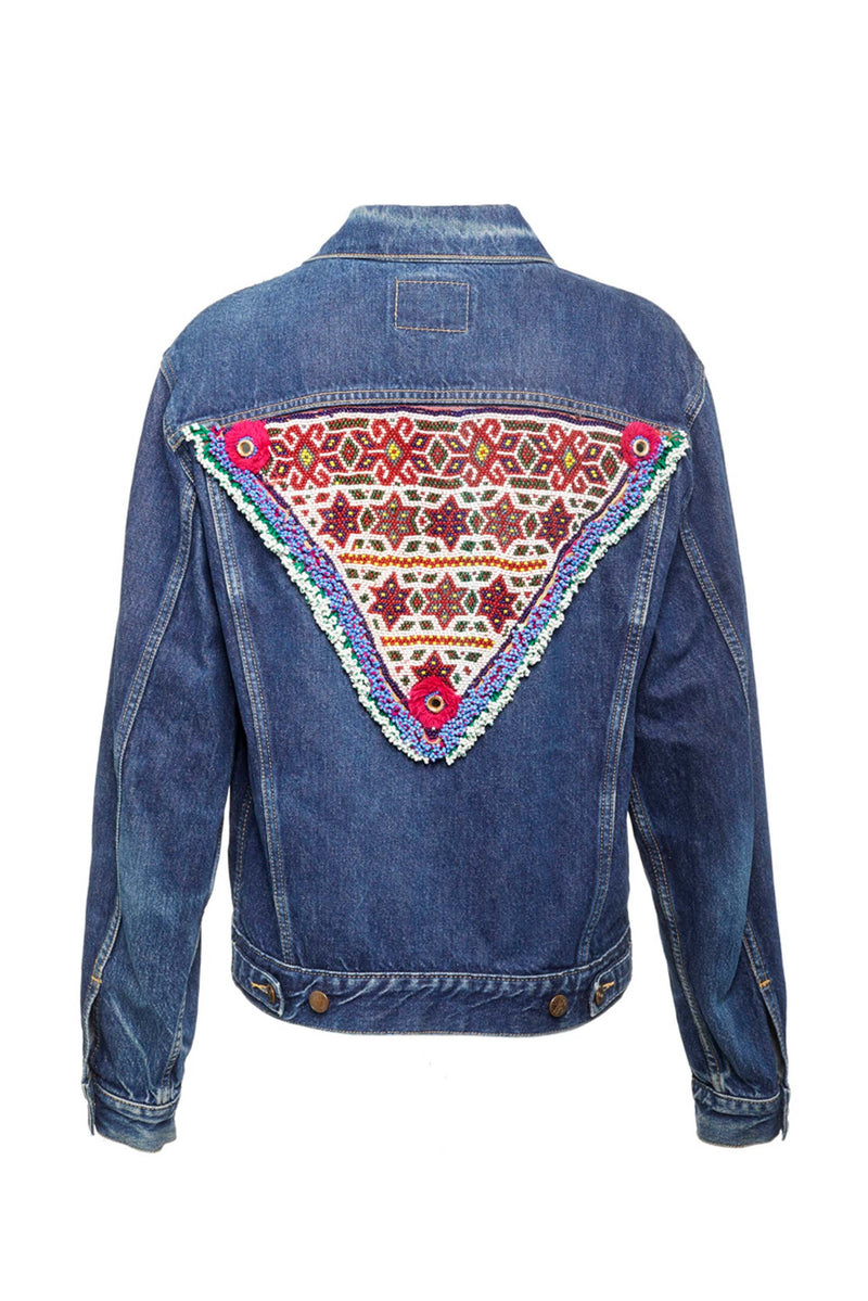 Jeans Jackets - #4 Vintage Upcycled Jeans Jacket - Jaipur Edition  One Of A Kind