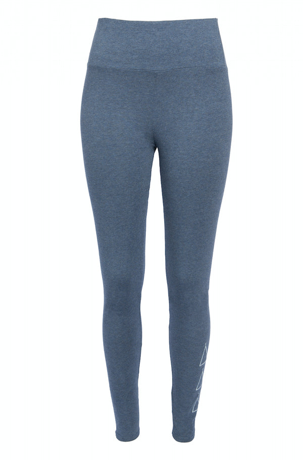 Leggings - High Waist Leggings Organic Cotton - Blue