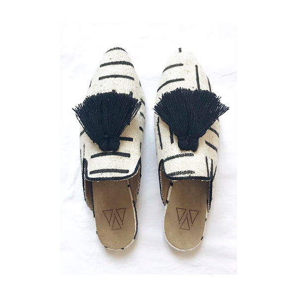 Shoes - Slippers - White Mali