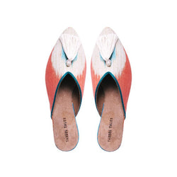 Shoes - Mules - Orange Ikat