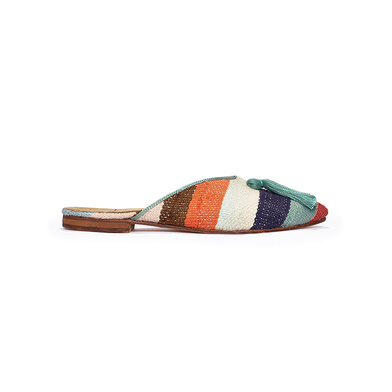 Shoes - Mules - Color Stripe