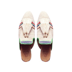 Shoes - Slippers - Beige Sandy Two Tassels