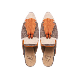 Shoes - Slippers - Brown Sandy Two Tassels