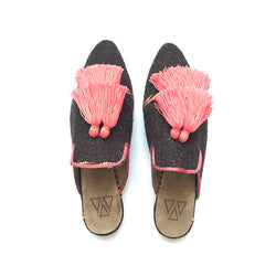 Shoes - Slippers - Brown Coral Two Tassels