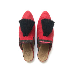 Shoes - Slippers - Red Raspberry