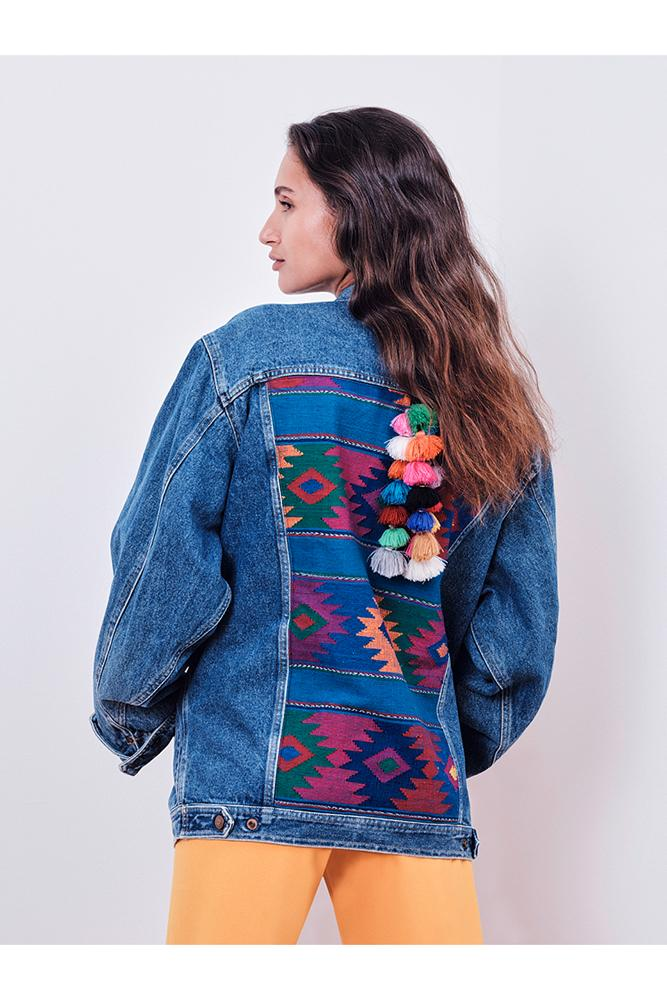 Jeans Jackets - #4 Upcycled Jeans Jacket - Mexico Edition