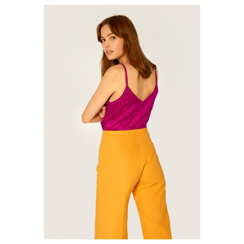 Top - Camisole Top Ethical Raw Silk - Magenta