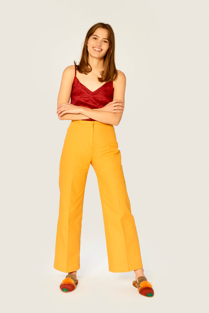 Top - Camisole Top Ethical Raw Silk - Red