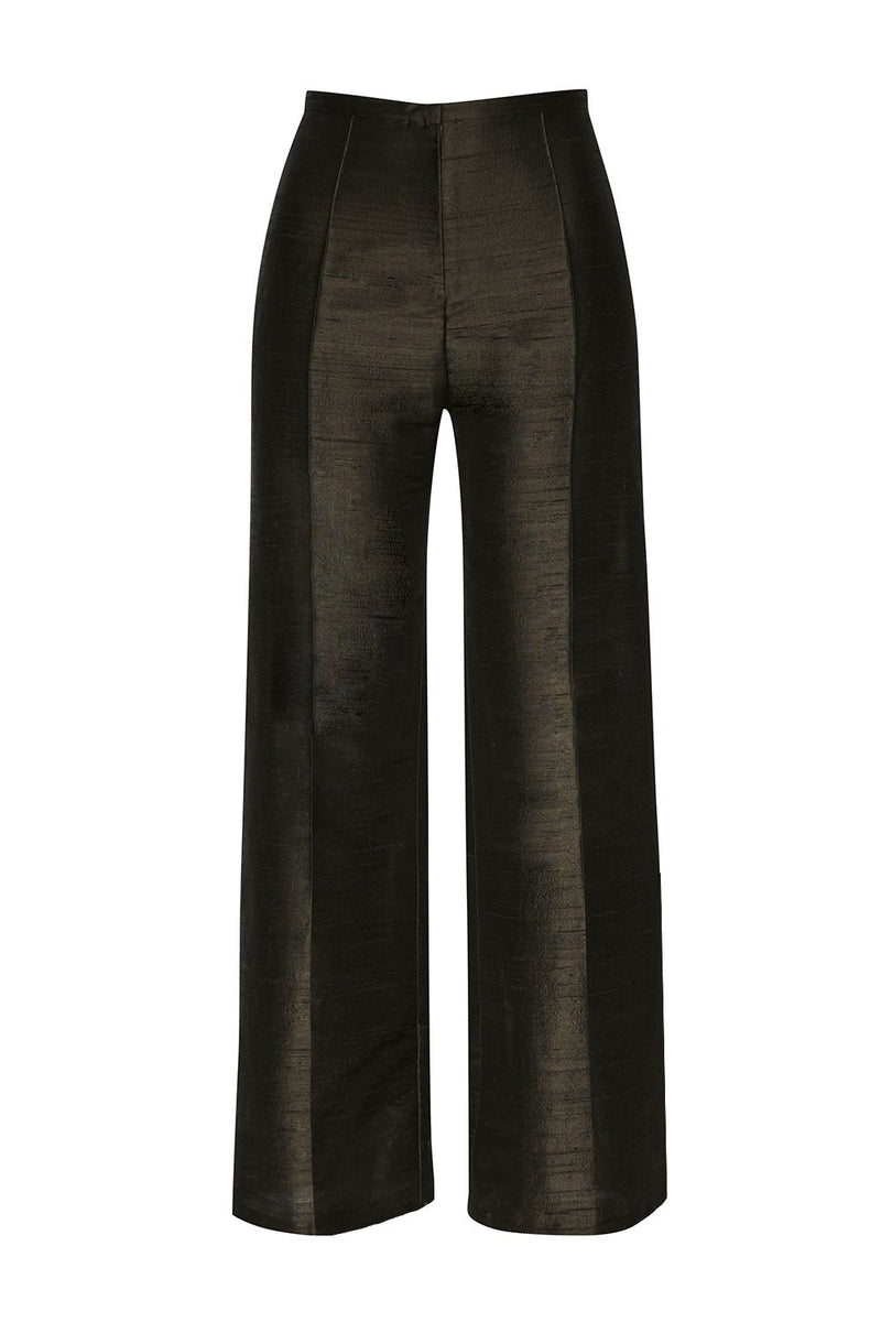 Top - Trousers Ethical Raw Silk - Black