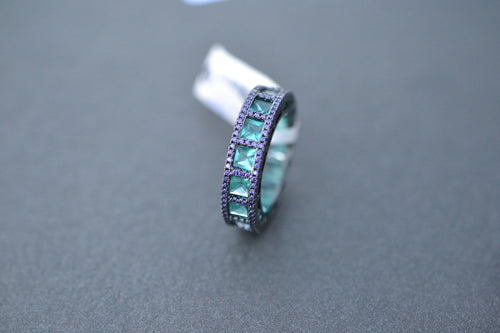 Tourmaline and Amethyst Fusion Ring