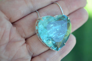 Tourmaline Heart Shape Necklace