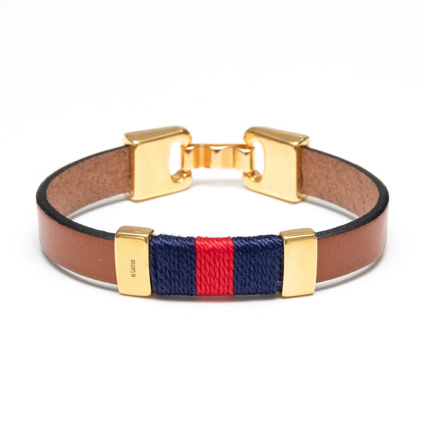 MONACO - BROWN/NAVY/RED