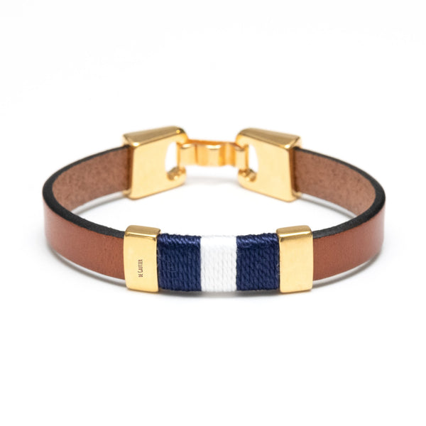 MONACO - BROWN/NAVY/WHITE