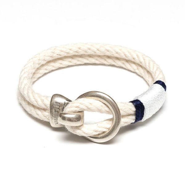 ANTIBES SILVER - IVORY/NAVY/WHITE