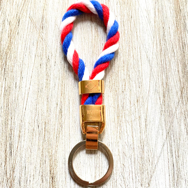 KEYCHAIN ROPE - RED•WHITE•BLUE