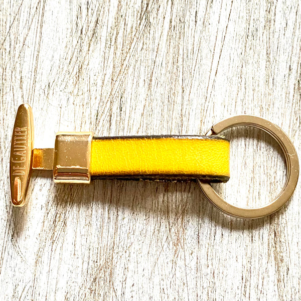 KEYCHAIN LEATHER - YELLOW