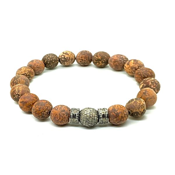 Brown Fire Jasper Mor Diamonds™ Bracelet