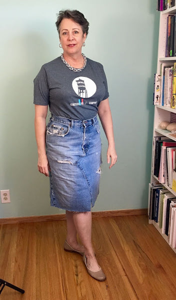 Summer Sewing, Upcycled Jean Skirt