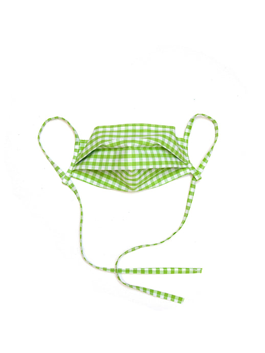 Cotton Maskini - Lime Gingham