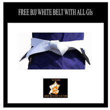 Load image into Gallery viewer, Refurbished YJJG Brazilian Jiu Jitsu Premium 450 White Uniform Free BJJ Belt
