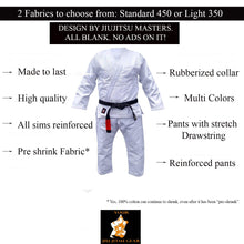 Load image into Gallery viewer, YJJG Brazilian Jiu Jitsu Premium Gray Uniform Free BJJ Belt