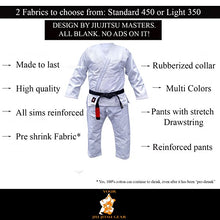 Load image into Gallery viewer, YJJG Brazilian Jiu Jitsu Premium 350 White Uniform Free BJJ Belt