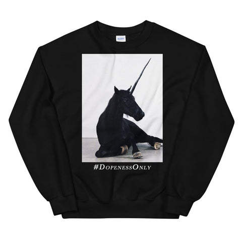 Black Unicorn Unisex Sweatshirt